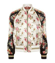 Donna Bomber Con Stampa Floreale