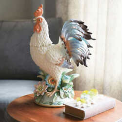 Fitz And Floyd Toulouse Rooster Centerpiece Hand Painted 19.5 Tall Home Decor