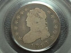 1818 Pcgs G-6  Capped Bust Quarter  Nice Coin 3