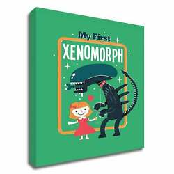 My First Xenomorph By Michael Buxton, Print On Canvas, Ready