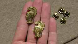 Ww2 Us Army Military Wac Officer Collar Insignia Pins