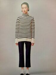 Cashmere/wool Blend Striped Sweater New With Tags And Bag Xxs