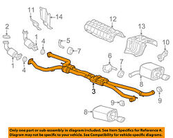 Chevrolet Gm Oem 14-15 Ss 6.2l-v8 Exhaust System-exhaust Pipe 92272880