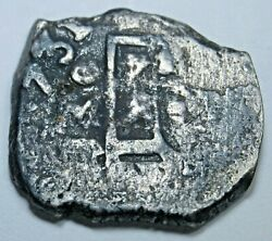 1731 Mexico Silver 1 Reales Antique Shipwreck 1700s Date Spanish Pirate Cob Coin
