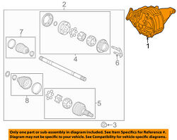 Cadillac Gm Oem 08-11 Cts Rear Differential-carrier 25979061