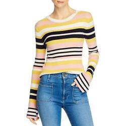 Frame Womens Baja Cashmere Blend Striped Pullover Sweater Top Bhfo 8949
