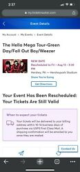 Hellamega Tour Concert Tickets-hersheypark Arena -2 Tickets Available