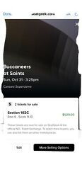 New Orleans Saints Vs Tampa Bay Buccaneers End Zone Club Seats