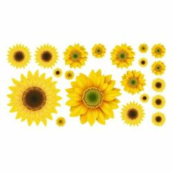 Sunflower Home Room Decor Art Wall Decals Stickers Bedroom Removable Mural DIY