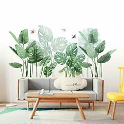 Leaf Wall Sticker Wall Decals Palm Tree Wall Decals Green Leaves Wall Paper Peel