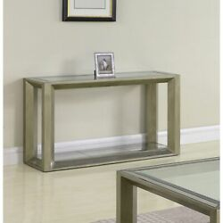 Best Master Furniture Pascual Glass Sofa Table Gold Glam, Modern And Contemporary