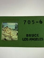 Bruce Of Los Angeles Slide/negatives/male Physique/beefcake/nude/stereo Viewer.