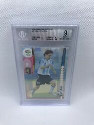2006 Panini Prizm Germany World Cup Messi 47 Rookie Bgs 9 Mint Rare