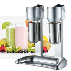 Commercial Double Head Milk Shake Machine Stainless Steel Drink Mixer Juicers