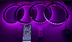 Universal Led Speaker Ring For Auto Boat Stereo Audio Rgb Chasing 15 4rings/set