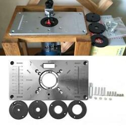 Router Table Insert Plate Woodworking Benches Wood Router Trimmer 4 Rings