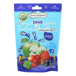 Torie And Howard - Chewy Fruities Organic Candy Chews - Sour Assorted - Case Of