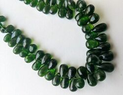 Natural Chrome Diopside Briolette Drop Beads For Jewelry, 6x4mm - 10x6mm