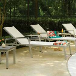 Piscine White Chaise Lounge Set Of 2