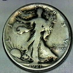 1921 S Walking Half Dollar Nice Collector Coin Free Shipping Inside The Us