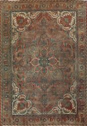 10'x12' Antique Heriz Hand-knotted Area Rug Geometric Wool Oriental Large Carpet
