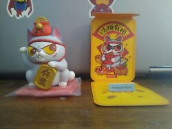 52toys Food On Head Lucky Fortune Series Mini Figure Cat With Red Coin Purse