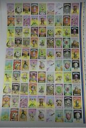 Melty Misfits Series 2 Buff Monster Signed Uncut Proof Sheet / Mm2