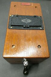 Vintage Wood Ohm-megohm Meter By Herman H. Sticht Co. Recorder Electric Co.great