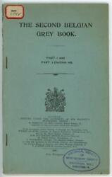 Wwi 1915 The Second Belgian Grey Book Booklet Printed In London Uk Darling And Son