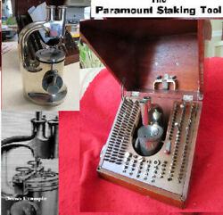 Paramount Staking And Jeweling Tool Set 1911 G W Bower Unique Historical Us Patent