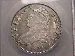 1821 Bust Half Dollar Icg Ms62 Nice Color And Luster Rare Pq Combined Shipping