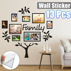 Family Tree Picture Photo Frame Set Wall Mount Decal Collage Sticker Decor Gift