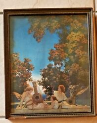 Original 1924 Maxfield Parrish Titled Lute Players C. Reinthal And Newman Ny