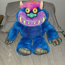 My Pet Monster Large Plush Toy Toymax No Cuffs 2001 Version With Voice Sounds