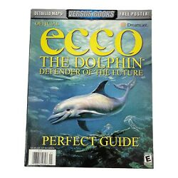 2000 Ecco The Dolphin Defender Of The Futre Perfect Strategy Guide With Poster