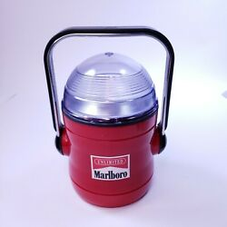 Vintage Pre-owned Marlboro Lantern Lamp Red With Tilt Handle Never Used Tested