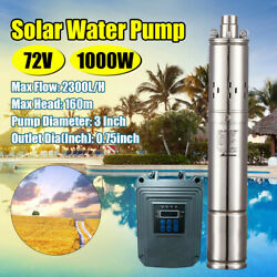 Dc 72v 1000w Solar Farm Water Pump Stainless Steel Submersible Deep Well Pump