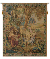 Country Scene Soft Vintage Belgian Tapestry Wall Art Hanging New 66x53 Inch