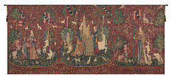 Lady And The Unicorn Series Belgian Woven Medieval Unicorn Wall Tapestry Art
