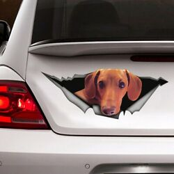 Red Dachshund Stickers For Car Cover Decal, Dogs Car Decal, Vinyl Wraps 12x12