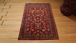 3x5 Very Unique Rare Mahal Handmade-knotted Wool Rug 582420
