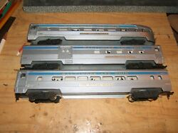 Lighted The Royal Blue Baltimore And Ohio  Three Passenger Cars