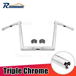 1-1/4and039and039 Chrome 16and039and039 Ape Monkey Bagger Bar Handlebars For Harley Road Glide 15-21
