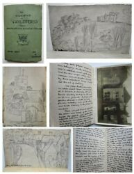 1920 Manuscript Book An Expedition To Guilford Surrey Handwritten With Drawings
