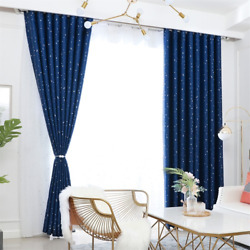 Blackout Curtain For Living Room Kid Room Bedroom Lucky Star French Window Blind