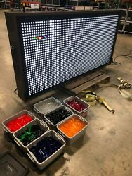 Giant 8' X 4' Light Bright Wall Lite Brite Major Attraction For Events