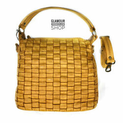 Bag Woman Bag Genuine Woven Leather Wide Handmade Italy