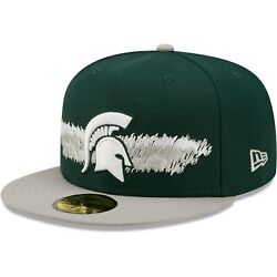 Michigan State Spartans New Era Scribble 59fifty Fitted Hat - Green