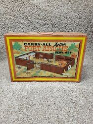 Marx Action Fort Apache Carry All Vintage Toyset 1960's Litho Tin Playset