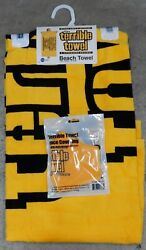 2 Pack Nfl Pittsburgh Steelers Gift Terrible Towel Beach And Face Mask Covering